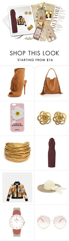 """Brown Study"" by peeweevaaz ❤ liked on Polyvore featuring Christian Louboutin, Rebecca Minkoff, Iphoria, Black & Sigi, Coach, VIcenza, Chloé, Lovisa, outfit and dress"