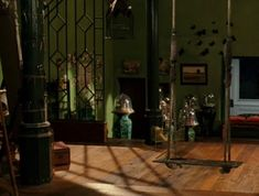 Everything about Penelope's room from the movie Penelope I love, especially the colors and the swing and the different floor levels and the plants....