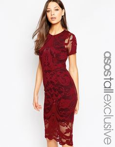 Image 1 of ASOS TALL Lace Body-Conscious Dress In Baroque