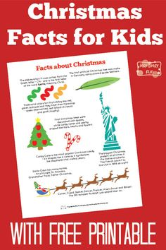 Fun Christmas Facts for Kids - Itsy Bitsy Fun Christmas Facts For Kids, Christmas Trivia, Fun Facts For Kids, Christmas Jokes, Favorite Christmas Songs, Christmas Activities For Kids, Christmas Themes, Christmas Holidays, Christmas Crafts