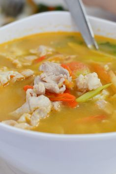 Peanut Butter Vegetable Chicken Soup   KitchMe
