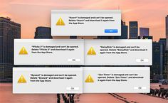Some Mac App Store Apps 'Damaged' Due to Authentication Issues - https://www.aivanet.com/2015/11/some-mac-app-store-apps-damaged-due-to-authentication-issues/
