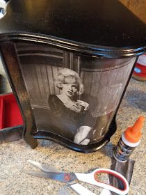 From Drab to Fab Marilyn Monroe jewelry armoire DIY Pinterest