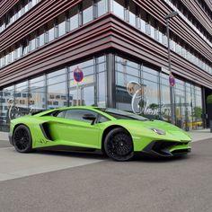 Lamborghini Aventador Super Veloce painted in Verde Ithaca  Photo taken by: @carsofstuttgart on Instagram