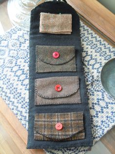 wool needle book . . . cute idea . . .