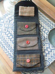 wool needle book . . . cute idea . . .