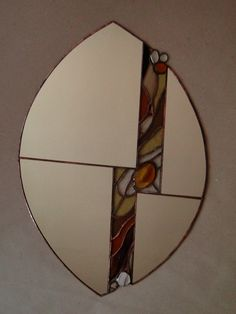 Stained glass, Mirror, tiffany tech., 2010, Seemoon