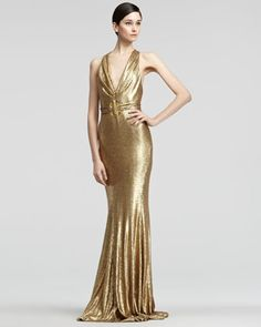 Belted Sequined Dress by Donna Karan at Bergdorf Goodman.