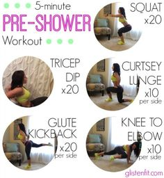 5-Minute Pre-Shower Workout