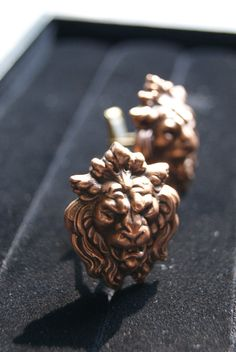 Antique Lion Cufflinks by GlassCast on Etsy, $40.00