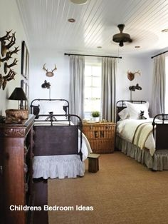 House Home Cottage Style Bedrooms Pictures Country Decor Boys Bedroom Decor, Childrens Room Decor, Bedroom Furniture, Bedroom Ideas, Bedroom Red, Bedroom Small, Bedroom Themes, Bedroom Colors, Bedroom Designs