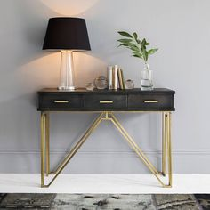 Atkin and Thyme Madison Console Table featuring polyvore, home, furniture, tables, accent tables, modern contemporary furniture, modern classic furniture, contemporary accent table, contemporary furniture and contemporary console tables