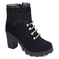 Sweet Suede and Embroidery Design Women's Boots