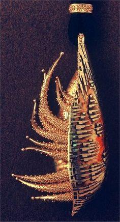 john paul miller.silver.creature.gold, enamel by moosoid9, via Flickr