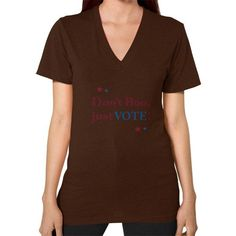 Don't Boo, Vote! V-Neck (on woman) Shirt