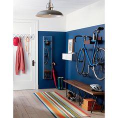 wood bike storage in wall mounted storage