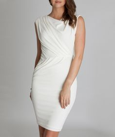 Another great find on #zulily! Cream Cole Dress by CeMe London #zulilyfinds