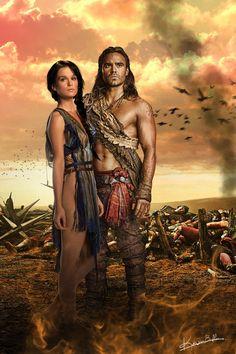Spartacus WOD Sibyl and Gannicus ! by ~KewinBadler on deviantART