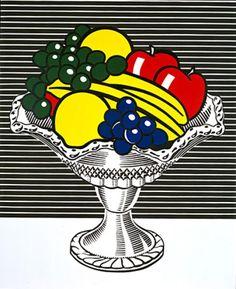 Roy Lichtenstein Still Life with Crystal Bowl art painting for sale; Shop your favorite Roy Lichtenstein Still Life with Crystal Bowl painting on canvas or frame at discount price. Roy Lichtenstein Pop Art, Art Pop, Pop Art Food, Andy Warhol, Fiesta Pop Art, Pop Art Essen, Museum Ludwig, Pop Art Party, Oil Canvas