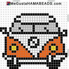 DIY VW camper van perler/hama beads pattern for coasters