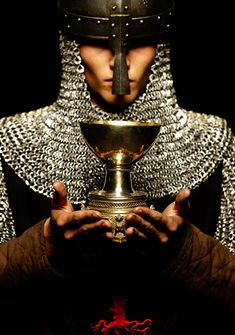 These men are very holy and thye bring Galahad into a room where he is finally allowed to see the Holy Grail. Galahad is asked to take the vessel to the holy city Sarras.