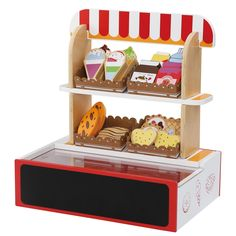 Play Shop Supermarket with Food includes 26 Pieces, Wooden Toy Shop by Bee Smart -- Awesome products selected by Anna Churchill Wooden Play Shop, Chocolate Spread, Non Toxic Paint, Rainbow Sprinkles, Play Food, Creative Play, Toys Shop, Wooden Toys, Toy Chest