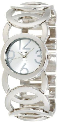 #Cheap #Watch , XOXO Women's XO5210 Silver Dial Silver-tone Open Link Bracelet Watch...$19.99