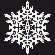 Legend of Zelda Triforce snowflake design