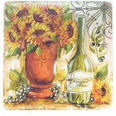 Certified International 'Tuscan Sunflower' 14.5-inch Square Platter