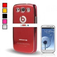 Carcasa protectora de Metal cepillado para Samsung Galaxy SIII / i9300. Carcasa Monster Beats por sólo 11.56 euros. Envío GRATIS en yougamebay.com