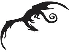 simple dragon in flight tattoo - Google Search