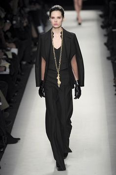 Caroline Brasch Nielsen at Yves Saint Laurent F/W 2010