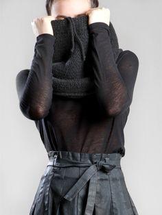 Knit Wool Scarf by LURDES BERGADA