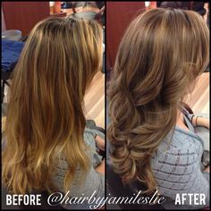 Before and after. AMAZING. Hair By Jami Leslie. Tiger Tail Salon- Carlsbad CA