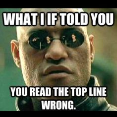 Morpheus knows all