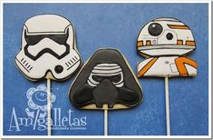 Stellar Star Wars: The Force Awakens Cookie Pops made by Amigalletas