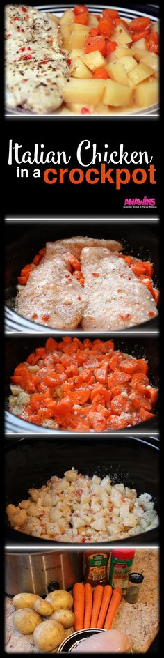 Do you wish you could make a delicious and complete meal in your crockpot within minutes? When your day is packed full this meal will allow you to come home to an amazing dinner with no extra work involved! This Italian chicken in the crockpot is the easiest crockpot dinner you will ever make!