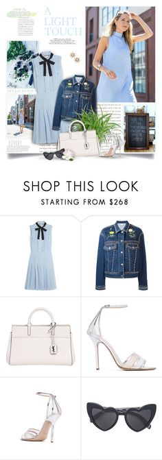 """Hello To You On This Beautiful Day"" by thewondersoffashion ❤ liked on Polyvore featuring Gucci, STELLA McCARTNEY, Yves Saint Laurent, Aperlaï and Kate Spade"