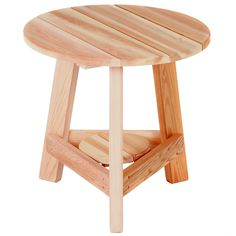 All Things Cedar Tripod Side Table - Western Red Cedar