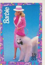 1991 Mattel Barbie Trading Card #4 1985 BARBIE & HER PETS with PRINCE