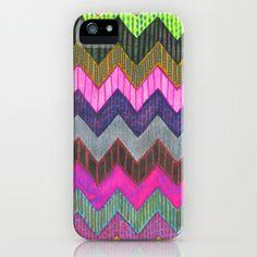 PATTERN {Chevron 002} iPhone Case by Schatzi Brown - $35.00