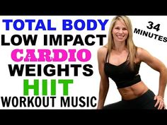 Low Impact Total Body Cardio Weights Sculpt Workout, Barefoot Cardio Weights…