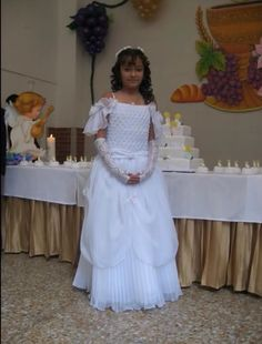 As a promise to his mother he had do his first communion as a girl