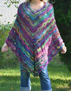 Peacock Virus Poncho by mylilsmidget on Etsy