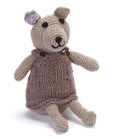 Purple Bear Wool Toy #zulily #zulilyfinds