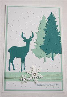 Hannas Art: frostige Weihnachtskarten ...