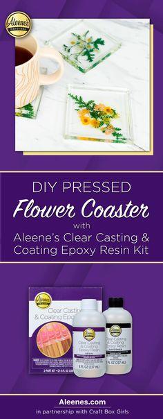 Aleene's Original Glues - DIY Epoxy Resin Pressed Flower Coasters #aleenes #tackyglue #craft #diy Glue Crafts, Fabric Crafts, Quick Crafts, Crafts For Kids, Easy Slime Recipe, Fabric Stiffener, Diy Ideas, Craft Ideas, Diy Epoxy