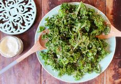 This is such a delicious twist on your everyday salad. The creamy nuttiness of the tahini dressing with the silky massaged kale and crunchy sesame...