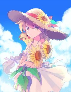 I love seeing the sunflower fields fully bloomed, that's probably my favourite part of August Pokemon Manga, Fan Art Pokemon, Pokemon Red, Pokemon Stuff, Manga Pokémon, Pokemon Adventures Manga, Yellow Trainers, Pokemon People, Special Images