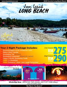 pakej pulau perhentian murah Long Beach Resort, Snorkeling, Islands, Boat, Life, Diving, Dinghy, Boats, Scuba Diving